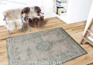 Dywan naturalny Orient (turkusowo szary) - Jade Oyster Carpets & More